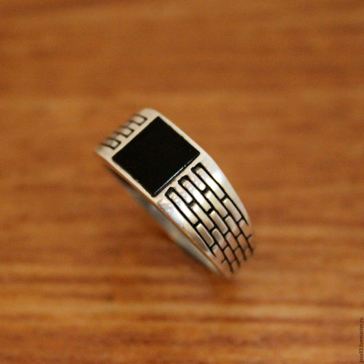 Украшения для мужчин, ручной работы. Ярмарка Мастеров - ручная работа. Купить Серебряная печатка Башня, серебро 925. Handmade. Черный