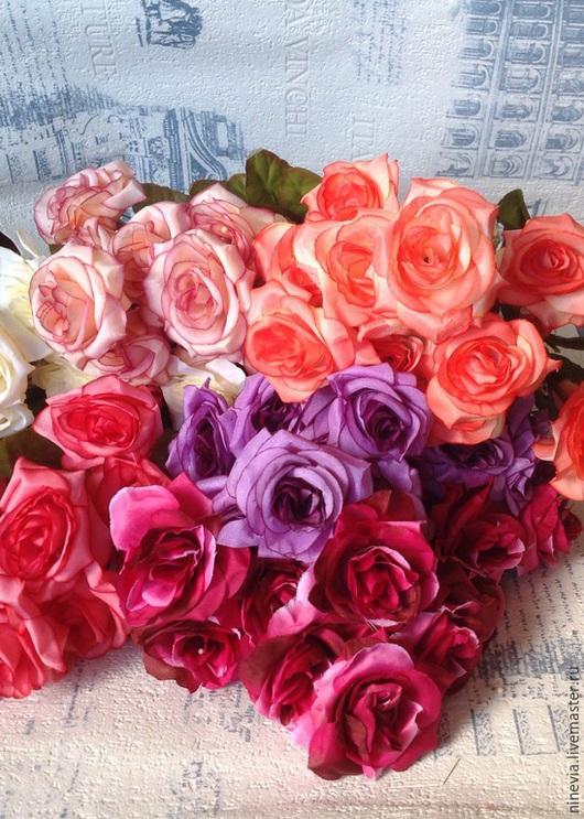 Материалы для флористики ручной работы. Ярмарка Мастеров - ручная работа. Купить Розы винтажные. Handmade. Разноцветный, розы букет, для ободочка