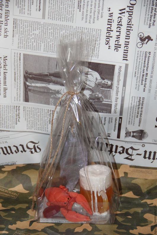 Персональные подарки ручной работы. Ярмарка Мастеров - ручная работа. Купить Набор кружка пива, вобла, рак. Handmade. вобла
