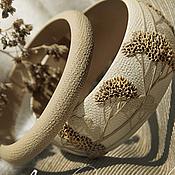 """Украшения ручной работы. Ярмарка Мастеров - ручная работа Комплект браслетов """"Жаркий полдень"""" из полимерной глины. Handmade."""