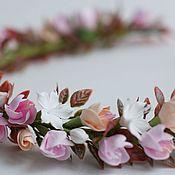 Украшения ручной работы. Ярмарка Мастеров - ручная работа Веночек для девочки с цветами яблони. Handmade.
