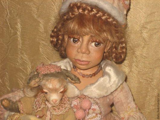 Коллекционные куклы ручной работы. Ярмарка Мастеров - ручная работа. Купить БАХАТИ-Снегурочка.. Handmade. Бледно-розовый, африканка