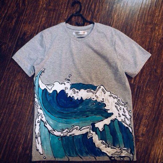 """Футболки, майки ручной работы. Ярмарка Мастеров - ручная работа. Купить Футболка """"Surfing"""". Handmade. Футболка, море, футболка на заказ"""