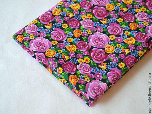 Шитье ручной работы. Ярмарка Мастеров - ручная работа. Купить Ткань хлопок, Роза весенняя, розовый. Handmade. Комбинированный, хлопок