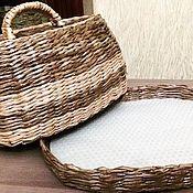 Хлебницы ручной работы. Ярмарка Мастеров - ручная работа Хлебница плетеная из бумажной лозы. Handmade.