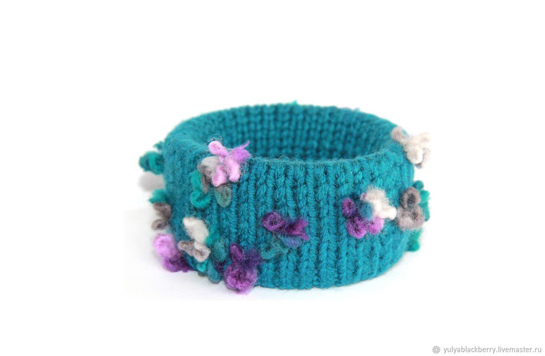 Bracelet knitted Flemish violet, Textile bracelet, Novosibirsk,  Фото №1