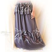 Одежда handmade. Livemaster - original item Skirt in viscose Jersey