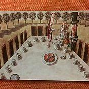 """Открытки ручной работы. Ярмарка Мастеров - ручная работа """"Алиса в стране чудес"""",авторская открытка. Handmade."""