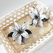 """Украшения ручной работы. Ярмарка Мастеров - ручная работа """"Лилия"""" цветок из натуральной кожи. Handmade."""