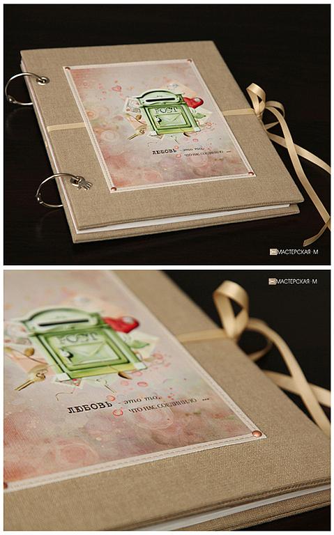 """Фотоальбомы ручной работы. Ярмарка Мастеров - ручная работа. Купить Фотоальбом """"Любовные письма"""". Handmade. Love, подарок любимой, принт"""