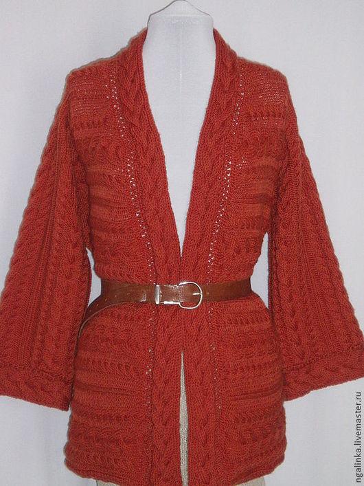 Кофты и свитера ручной работы. Ярмарка Мастеров - ручная работа. Купить жакет-кардиган из шерсти Весенний. Handmade. Рыжий