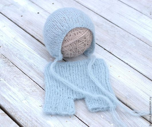 Для новорожденных, ручной работы. Ярмарка Мастеров - ручная работа. Купить Шорты + шапочка для фотосессии новорожденного, комплект для фотосессии. Handmade.