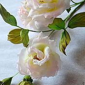 Цветы и флористика handmade. Livemaster - original item Silk flowers, Branch, Garden of Angels. Handmade.