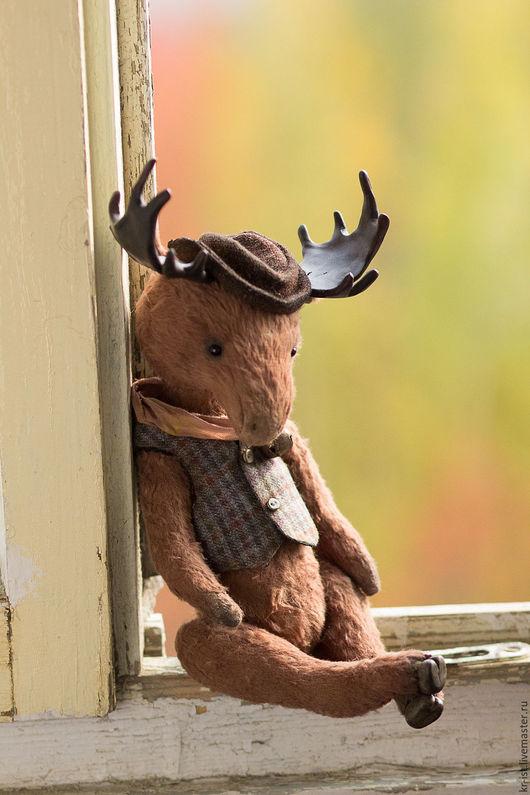 Мишки Тедди ручной работы. Ярмарка Мастеров - ручная работа. Купить лось Аристарх. Handmade. Коричневый, игрушка лось, кантри