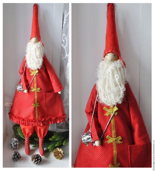Куклы Тильды ручной работы. Ярмарка Мастеров - ручная работа. Купить Санта с барабаном Тильда. Новогодняя игрушка. Handmade.