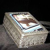 Для дома и интерьера handmade. Livemaster - original item Casket-a casket with a personal photo. Handmade.