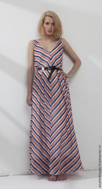 """Платья ручной работы. Ярмарка Мастеров - ручная работа. Купить Платье """"PEARL"""". Handmade. Разноцветный, платье по косой, стильное платье"""