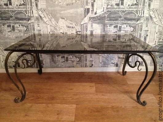 Мебель ручной работы. Ярмарка Мастеров - ручная работа. Купить Журнальный стол. Handmade. Кованые изделия, мебель на заказ, металл