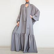 Одежда handmade. Livemaster - original item Long gown dress large size dress boho. Handmade.