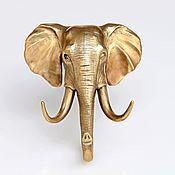 Для дома и интерьера handmade. Livemaster - original item Hanger elephant, brass, 105h95 mm. Handmade.