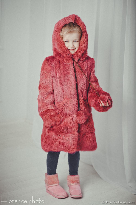 Детская шуба для девочки из кролика, Верхняя одежда детская, Москва,  Фото №1