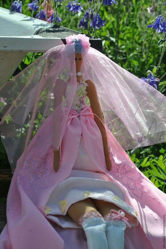 Куклы Тильды ручной работы. Ярмарка Мастеров - ручная работа. Купить Невеста в розовом. Handmade. Бледно-розовый, ручная работа