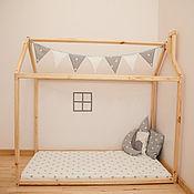 Для дома и интерьера ручной работы. Ярмарка Мастеров - ручная работа №9. Кроватка домик с трубой. Handmade.