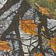 Пейзаж ручной работы. Картина Зеркало Осени на хб ткани в технике горячего батика. Мария. Интернет-магазин Ярмарка Мастеров.