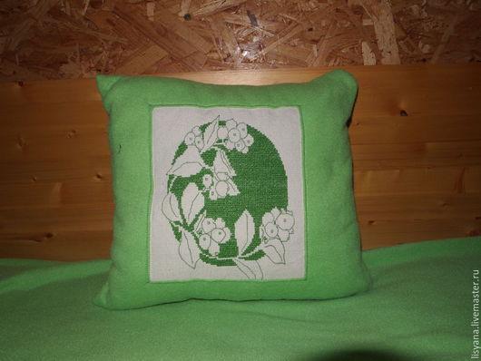 """Текстиль, ковры ручной работы. Ярмарка Мастеров - ручная работа. Купить Подушка """"Весеннее настроение"""". Handmade. Мятный, интерьерная подушка"""