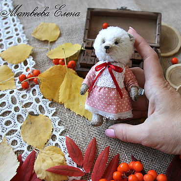 Куклы и игрушки ручной работы. Ярмарка Мастеров - ручная работа Игрушки: Тедди мишка Настасья. Handmade.