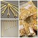 Набор пинов с колечком и покрытием цвета золото диаметр штифта 0,7 мм и длиной от 16 мм до 50 мм для сборки украшений по 100 штук каждого размера в пакетиках Всего 800 штук