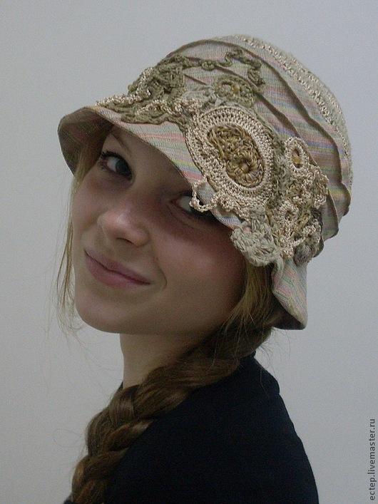 """Шляпы ручной работы. Ярмарка Мастеров - ручная работа. Купить Шляпка из льна  """"Мечта блондинки"""". Handmade. Шляпа из льна"""