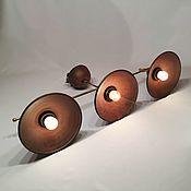 Для дома и интерьера handmade. Livemaster - original item Ceramic chandelier with three shades and brass frame. Handmade.