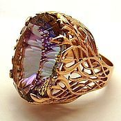 Украшения handmade. Livemaster - original item Vintage ring with large stone. Handmade.