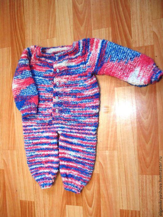 Одежда ручной работы. Ярмарка Мастеров - ручная работа. Купить Комбинезон для новорожденного. Handmade. Новорожденному, букле, ручная вязка