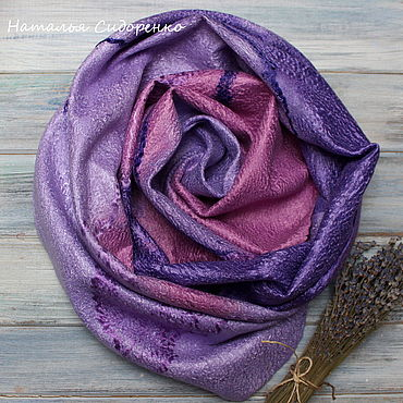 Accessories handmade. Livemaster - original item Wraps: Lavender field. Handmade.