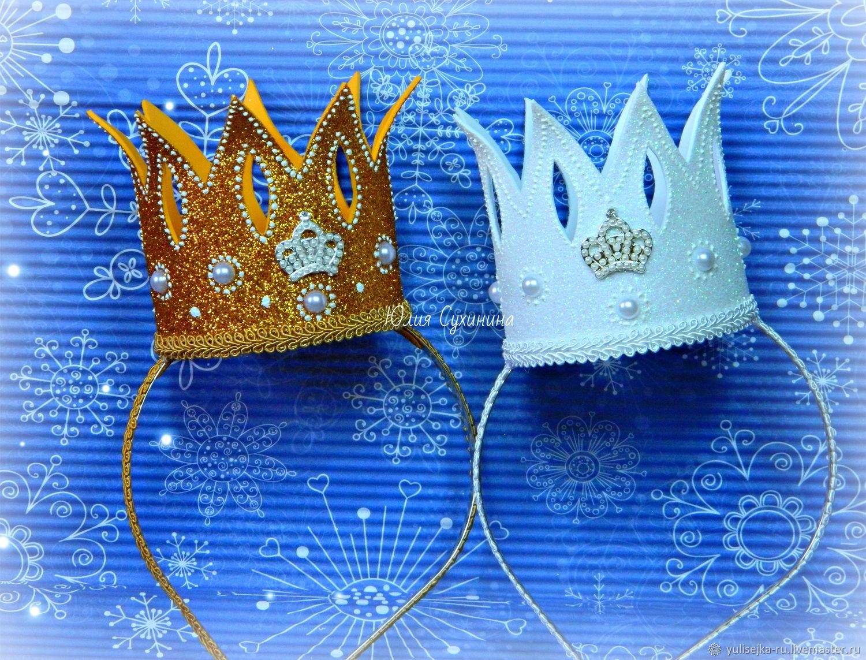 Корона на ободке. из фоамирана, Диадемы, Москва, Фото №1