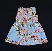 Работы для детей, handmade. Livemaster - original item Blue dressy dress for girl