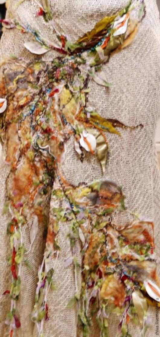 Юбки ручной работы. Ярмарка Мастеров - ручная работа. Купить Льняная юбка ЛЕТО В СЕНТЯБРЕ. Handmade. Серый