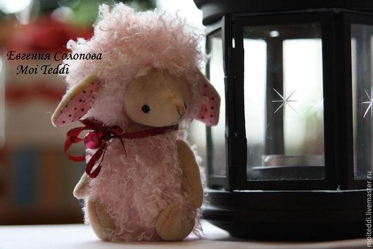Мишки Тедди ручной работы. Ярмарка Мастеров - ручная работа. Купить Кудряшка овечка. Handmade. Розовый, подарок на новый год