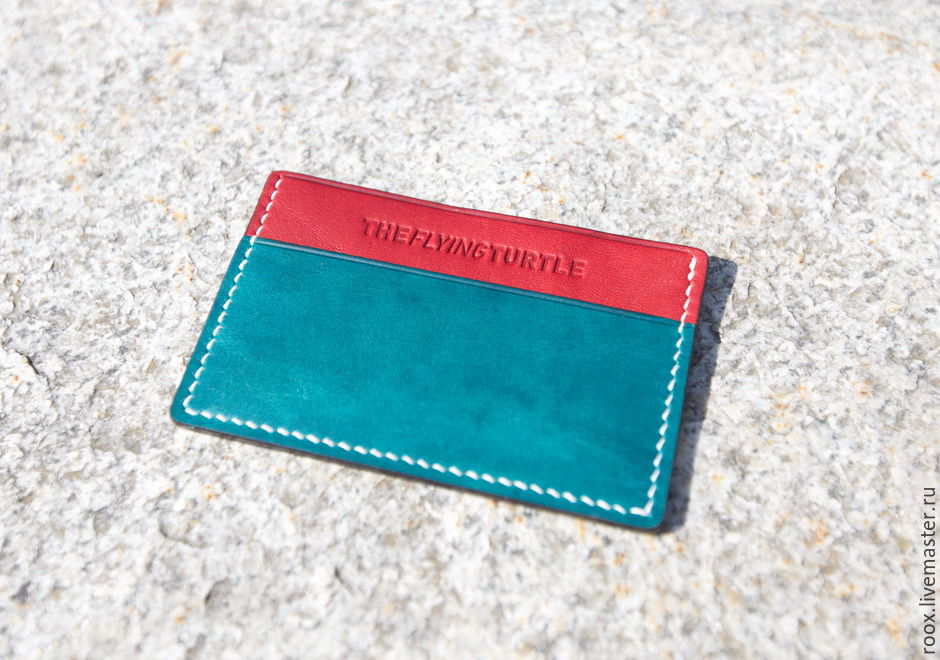The image business card holder made from Horween leather ( card case ), Business card holders, Moscow,  Фото №1