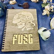 Канцелярские товары handmade. Livemaster - original item PUBG Wooden Notepad / Sketchbook. Handmade.