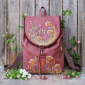 Сумки и аксессуары handmade. Livemaster - original item Canvas backpack