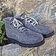 Обувь ручной работы. Ярмарка Мастеров - ручная работа. Купить Ботинки валяные мужские Grey. Handmade. Серый, Мокрое валяние
