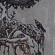 Фантазийные сюжеты ручной работы. Ярмарка Мастеров - ручная работа. Купить Фиговое дерево. Handmade. Готика, дерево, Тонированная бумага