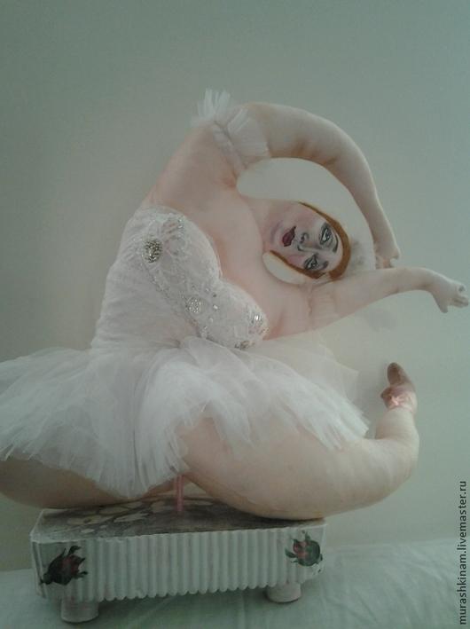 ПРИМА-балерина. Интерьерная текстильная кукла толстушка купить в подарок