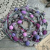 Украшения handmade. Livemaster - original item A gift for mom Beads Necklace Beads Glass Wool Lilac Purple Boho. Handmade.