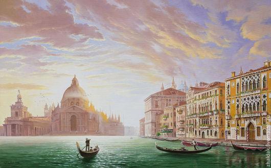 """Пейзаж ручной работы. Ярмарка Мастеров - ручная работа. Купить Картина """"Венеция. Гранд-канал"""". Handmade. Венеция, гранд канал"""