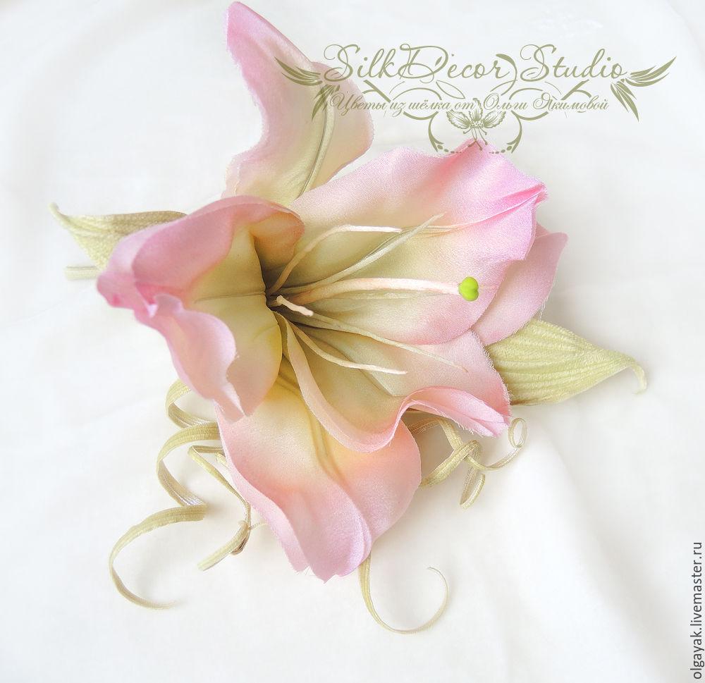Цветы лилии своими руками из ткани
