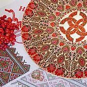 """Подарки ручной работы. Ярмарка Мастеров - ручная работа """"Свадебник"""" подарок на свадьбу, тарелка с оберегом красный. Handmade."""